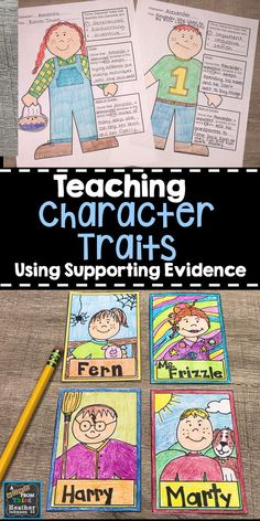 Two fun ways to teach and practice character traits all year long. These activities can be used for any books that you use in your classroom. Students will go back into the text to support their claims using evidence. 3rd Grade Books, 4th Grade Reading, Third Grade, Grade 2, Fourth Grade, Reading Lessons, Teaching Reading, Guided Reading, Student Teaching