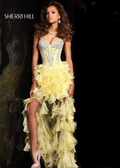 pretty, pretty yellow! - Sherri Hill 1543 Yellow High Low Dress