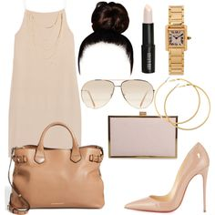 A fashion look from March 2015 featuring T By Alexander Wang dresses, Christian Louboutin pumps and Burberry tote bags. Browse and shop related looks.