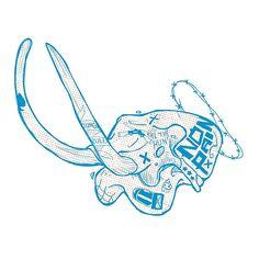 Kill the hunter @redbubble #illustration #skull #animal #tatoo #vector #custom #tshirt #sticker #fashion