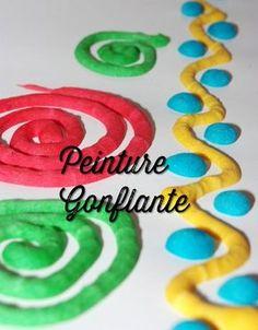 """Peinture gonflante (""""fait maison"""" ! )"""