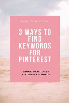 Learn how to find best keywords for Pinterest. Read the whole blog from www.nellaino.com #pinterestmarketing #pinterestkeywords #nellaino #pinterestseo #pinterestsearch Social Media Tips, Social Media Marketing, Marketing Strategies, Email Marketing, Content Marketing, Creative Business, Business Tips, Rich Pins, Pinterest For Business