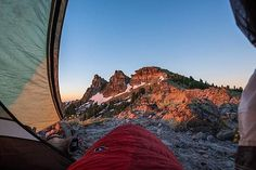 """Now this is the best way to wake up in the morning!"" @joe_dondelinger on Castle Peak, #California. #LetsCamp"