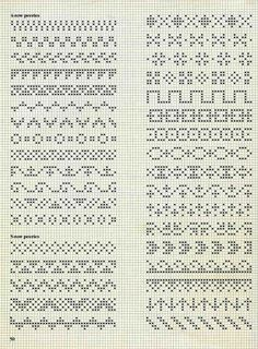 Fair Isle Knitting Patterns, Fair Isle Pattern, Knitting Charts, Loom Patterns, Knitting Stitches, Cross Stitch Borders, Cross Stitch Designs, Cross Stitch Patterns, Blackwork