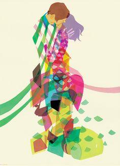 宮原葉月:hacco. Nice overlapping colors.