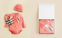 Burberry Infant Girls' Sara Hat, Bodysuit & Bib Set - Sizes 3-12 Months