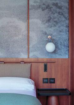 Patricia Urquiola Designs the amazing interiors of Lake Como Hotel Il Sereno Cama Design, Home Interior Design, Interior Architecture, Room Interior, Modern Interior, Hotel Inspired Bedroom, Hotel Room Design, Hotel Interiors, Design Moderne