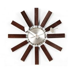 Starburst Telechron Wood Spokes Clock | Overstock™ Shopping - Great Deals on Clocks @ Overstock $70