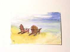 Watercolor Painting Illustration Landscape by BetweenTheWeeds,