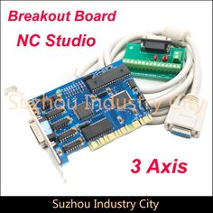 CNC Control board NC Studio 3 Axis PCI motion control card  for CNC  machine  CNC Interface Adapter Breakout board #Affiliate