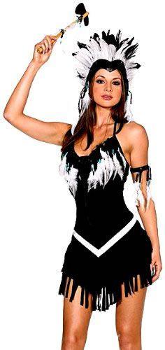 Dreamgirl Women's Tribal Princess Native American Costume, Black/White, Small