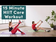 Try this 15-minute core workout rotuine at home to improve coordination and stability, and teach your muscles how to move together. Core Strength Exercises, Strength Workout, Gym Workouts, At Home Workouts, Fat Burning Cardio, Love Fitness, Excercise, Get Healthy, Hiit