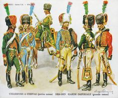 Napoleonic Chasseurs | were the elite of the light cavalry and were as such Napoleon ...