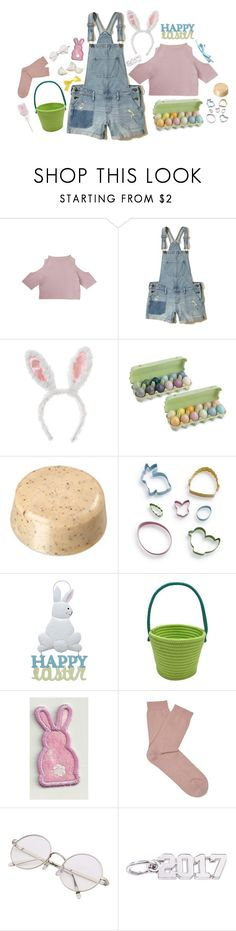 """""""Happy Easter!"""" by queen-of-music ❤ liked on Polyvore featuring Hollister Co., Williams-Sonoma, Wilton, Falke and Rembrandt Charms"""