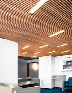 Edge Wood Ceiling Structure Filtering Ceiling Above With