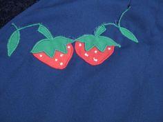 Dark Blue Strawberry Fruit Novelty Print Skort by RetroFascination