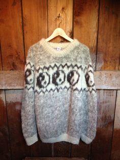 Vintage 90's Grunge Yin Yang  Sweater, Mens L. $49.00, via Etsy.