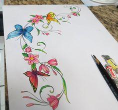 Draw butterflys by Bruno Lança.