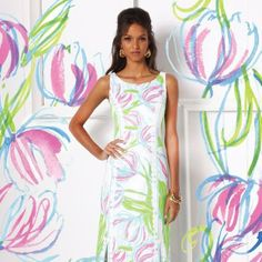 Lilly Pulitzer Biltmore Maxi Shift Dress in Ring the Bellboy