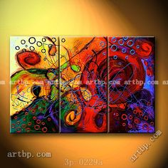 Entwined Passions Oil Painting On Canvas Abstract Nature 3 Panel 3 Pcs / Set Wall Art Halloween Wall Mural Patterns Decor Stick Abstract Nature, Abstract Canvas, Oil Painting On Canvas, Oil Painting Pictures, Canvas Pictures, Wall Murals, Wall Art, Pattern Pictures, Painting Patterns