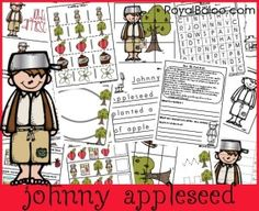 Johnny Appleseed unit. Toy pack, pre-k pack and 5-8year old pack. All free!