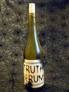 """Truth Serum"" Halloween Labeled Potion/Lab/Witch Bottle"
