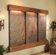 Cataratas interiores hechas de acero y cobre - colección Adagio