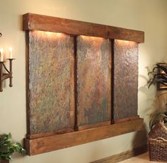 nterior Waterfall from Adagio Collection - Stainless Steel and Rustic Copper indoor waterfalls