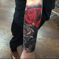 60 inspiring rose tattoo designs - body art that will touch Cover Up Tattoos For Men, Rose Tattoos For Men, Tattoos For Guys, Tattoo Sleeve Designs, Sleeve Tattoos, Forearm Tattoos, Body Art Tattoos, Tatuaje Cover Up, Tattoo Minimaliste