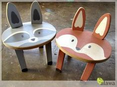 Teds Woodworking - Woodland Animal Stools - Im applying to be a vendor at my local farmers market to make a little extra income to better support my family. I stumbled across Br… - Projects You Can Start Building Today Woodworking Projects For Kids, Wood Projects, Animal Projects, Handmade Furniture, Kids Furniture, Painted Furniture, Furniture Sets, Modern Furniture, Furniture Design