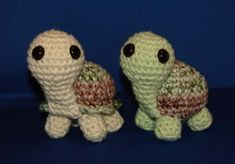 Cutest crochet turtle ever!  Easy pattern to follow.  Just remember to weight the body as they are a little top heavy. :)  Almost forgot to mention - the pattern is free.