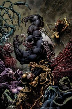 Marvel Comics arrives in August, as Absolute Carnage begins, Hickman's X-Men saga continues and the Spider-Man get a new adventure. Spiderman Venom, Comics Spiderman, Venom Comics, Marvel Comics Art, Marvel Comic Books, Marvel Dc, Marvel Venom, Marvel Villains, Marvel Characters
