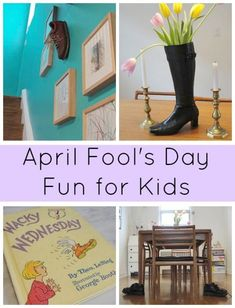 A fun Dr. Seuss inspired April Fool's Day prank for kids. If you have a pair of shoes you can set this prank up the night before. Easy and so wacky. April Fools Day Jokes, Best April Fools, April Fools Pranks, Happy Mom, Happy Kids, Pranks For Kids, Fun Pranks, Jokes Kids, Wacky Wednesday
