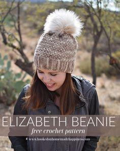Elizabeth Beanie Crochet Pattern - The Elizabeth Beanie Crochet Pattern has this soft & beautiful stitch design. It has such a pretty and feminine look to it.
