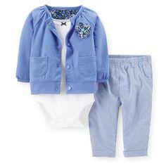 3-Piece Jersey Cardigan Set