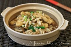 Tofu pok  豆腐泡 (also known as tofu puff or tau pok) is a type of tofu which has been deep fried in oil until they are light and airy in the c...