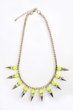 MINUSEY - Yellow Neon Necklace