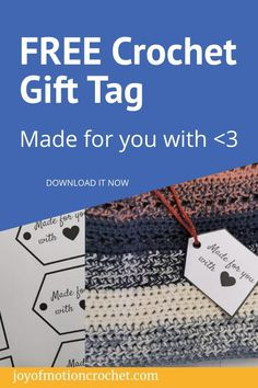 Love gifting handmade? These printable gift tags are perfect for those handmade gifts! Download this gift tag freebie. Instant download & printable gift tag for crochet gifts. Learn To Crochet, Easy Crochet, Free Crochet, Crochet Rugs, Crochet Doilies, Crochet Stitches For Beginners, Craft Stash, Crochet Patterns, Crochet Tutorials