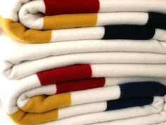 MN made Faribault Woolen Mill Blankets available at Ampersand in the Galleria.
