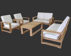 Havana. This modern mid-century style features wide arms convenient for setting drinks or books. With a light and airy look, it is extremely comfortable. From $545. Discover your perfect patio furniture at http://www.teakwarehouse.com/teak/deep-seating-gallery/.