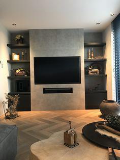 Living Room Wall Units, Living Room Grey, Living Room Modern, Home Living Room, Living Room Designs, Dream Home Design, Modern House Design, Home Decor Inspiration, New Homes