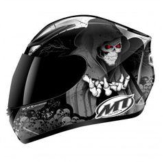 Casque Integral MT Revenge Reaper Noir Gris