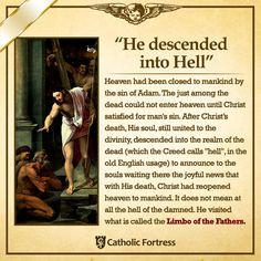 """HOLY SATURDAY: """"And He descended into Hell."""""""
