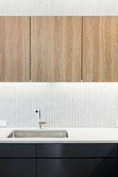 OnDeck Offices – Denver. Kitchen. T-point. Breakout space. Tiled backsplash…