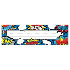 Use these Superhero Name Plates to help teachers and substitute teachers learn students' names. Use them to label learning centers, storage areas, and portfolio collections. Laminate them for use as vocabulary flash cards, or work bank labels Superhero Name Tags, Superhero Classroom Theme, Classroom Labels, Classroom Themes, Superhero School, Superhero Door, Superhero Academy, Art Classroom, Vocabulary Flash Cards