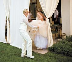 Ellen and Portia's Wedding Day