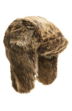 Faux fur trapper hat: just because!