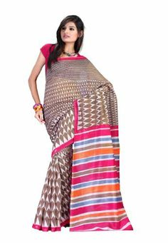 Ethnic Indian Women Saree Designer Wear Printed Coffee & Pink by Fabdeal, http://www.amazon.ca/dp/B00GMJYS6A/ref=cm_sw_r_pi_dp_nBOptb0V417MG