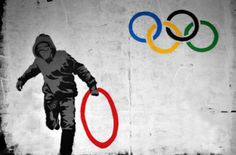 Totally tickled at this Banksy street art from the 2012 London Olympics games.  Click-through has more street art from those games.
