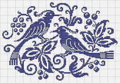 ru / Фото - Монохром - Birds of Paradise. Cross Stitch Bird, Cross Stitch Samplers, Cross Stitch Animals, Cross Stitch Charts, Cross Stitch Designs, Cross Stitching, Cross Stitch Embroidery, Embroidery Patterns, Cross Stitch Patterns